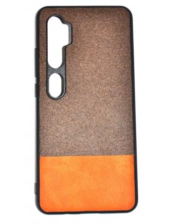 Чехол Xiaomi Mi note 10/10 pro текстильный. Коричневый