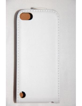 Кожаный чехол flip Ipod Touch 5. Белый цвет