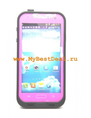 Водонепроницаемый чехол Samsung Galaxy S4. Розовый цвет