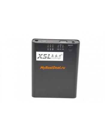 Контейнер для аккумуляторов формата 18650, 1-4 шт. Черный цвет