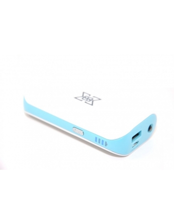 Мобильный аккумулятор Power bank 6000 Mah. Голубой цвет