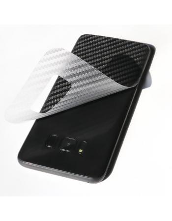 Карбоновая наклейка для Samsung Galaxy S8. Прозрачная