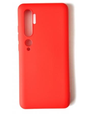 Силиконовый чехол xiaomi mi note 10/10 pro. Красный цвет