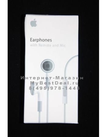 Наушники Iphone с регулятором громкости. В коробке. Оригинал