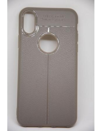 Силиконовый чехол для Iphone X. Серый цвет