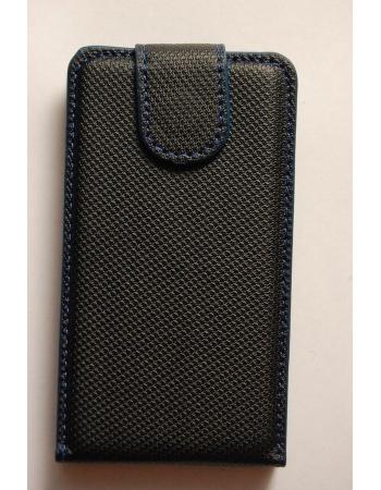 Чехол flip Ipod Touch 4. Черный+голубой цвет