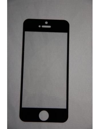 Защитное стекло Iphone 5. Черный цвет