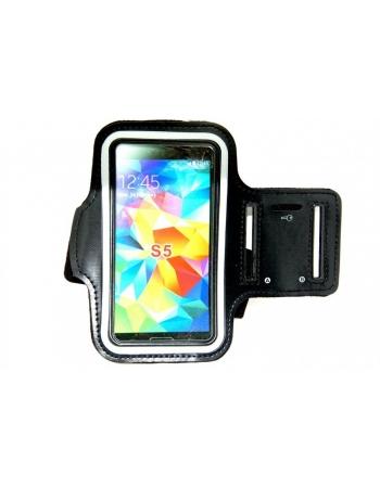 Спортивный чехол на руку для Samsung Galaxy S5. Черный цвет