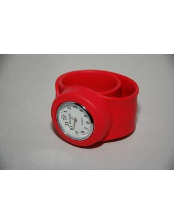 Часы силиконовые slap on watch. Красный цвет
