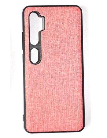 Чехол Xiaomi Mi note 10/10 pro текстильный. Розовый цвет