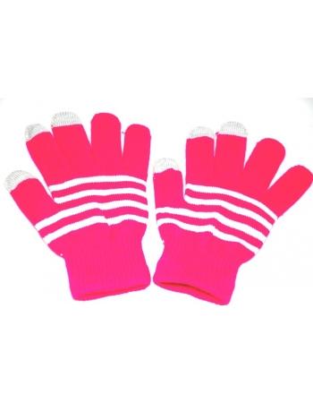 Перчатки для емкостных экранов. Розовый цвет