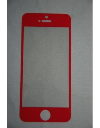 Защитное стекло Iphone 5. Красный цвет