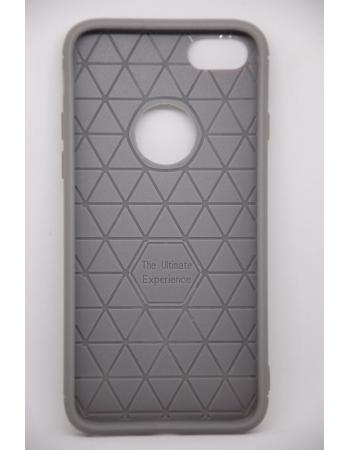 Тонкий силиконовый чехол Iphone 8. Серый цвет
