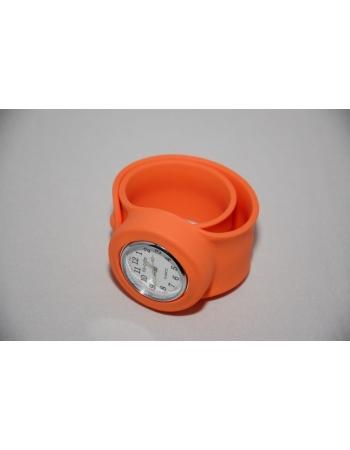 Часы силиконовые slap on watch. Оранжевый цвет
