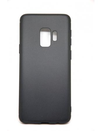 Силиконовый чехол Samsung Galaxy S9. Матовый черный цвет
