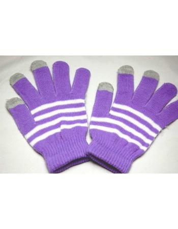 Перчатки для емкостных экранов. Сиреневый цвет