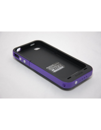 Чехол-аккумулятор для Iphone 4/4s Mophie Juice Pack. Фиолетовый цвет
