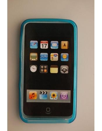 Гелевый чехол Ipod Touch 4. Голубой цвет