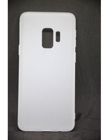 Силиконовый чехол Samsung Galaxy S9. Матовый белый цвет