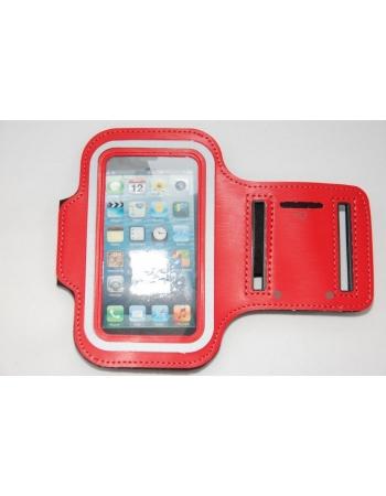 Спортивный чехол Iphone 5 на руку. Красный цвет