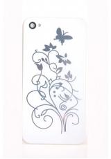 "Панелька Iphone 4s ""Бабочки"". Белый цвет"