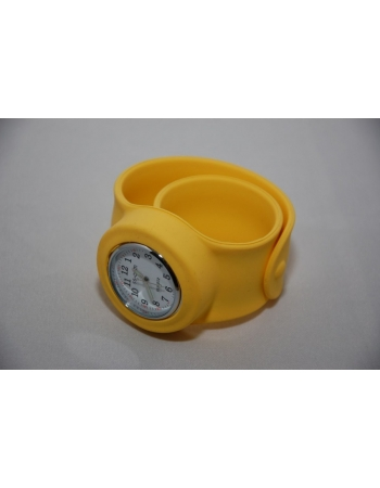 Часы силиконовые slap on watch. Желтый цвет