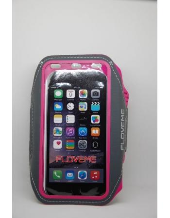Спортивный чехол для iPhone 5 5S SE 6 6S 7 8 X на руку Floveme. Розовый цвет