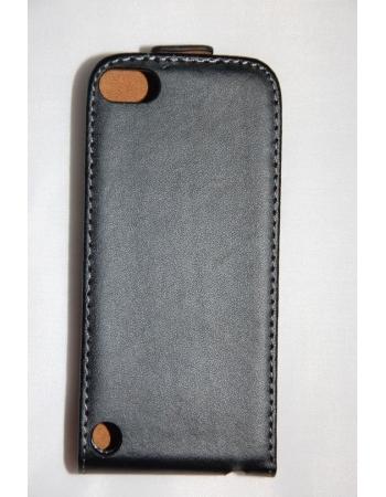 Кожаный чехол flip Ipod Touch 5. Черный цвет