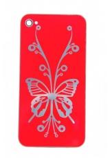 "Панелька Iphone 4s ""Бабочка"". Красный цвет"