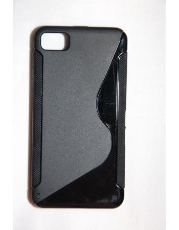 Гелевый чехол TPU Blackberry Z10. Черный цвет
