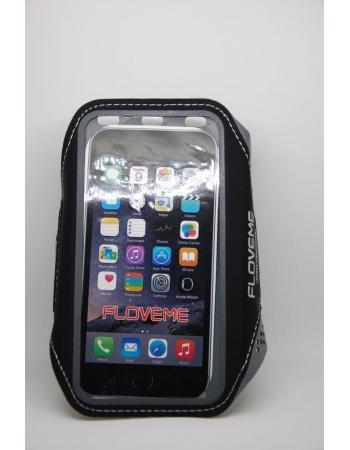 "Спортивный чехол 4.7"" для iPhone 5 5S SE 6 6S 7 8 X на руку Floveme. Черный цвет"
