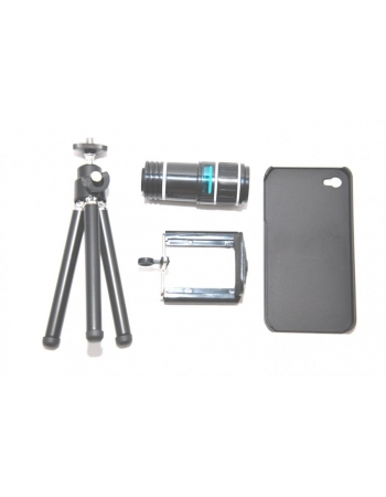 Комплект объектив 12х + чехол + штатив iphone 4/4s