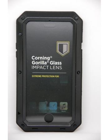 Металлический защищенный чехол Iphone 8 Gorilla Glass. Черный цвет