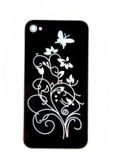"""Панелька Iphone 4s """"Бабочки"""". Черный цвет"""