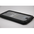 Металлический чехол для iphone 8 gorilla glass противоударный черный цвет