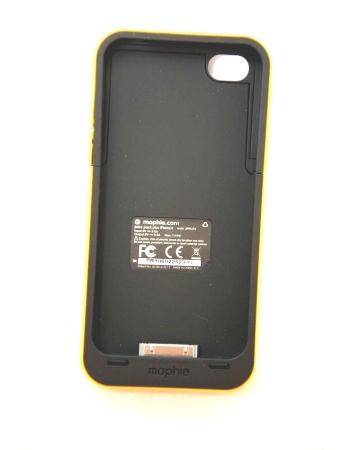 Чехол-аккумулятор для Iphone 4/4s Mophie Juice Pack. Желтый цвет