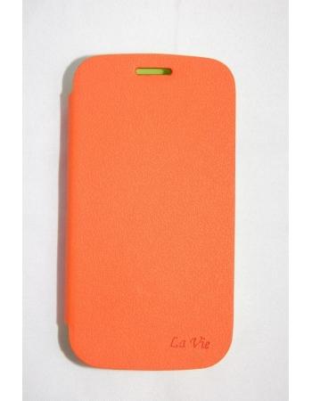 Кожаный чехол La Vie для Samsung Galaxy S3. Оранжевый цвет