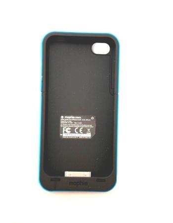 Чехол-аккумулятор для Iphone 4/4s Mophie Juice Pack. Голубой цвет