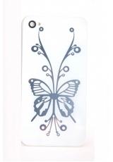 "Панелька Iphone 4s ""Бабочка"". Белый цвет"