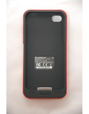 Чехол-аккумулятор для Iphone 4/4s Mophie Juice Pack. Красный цвет