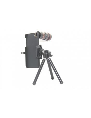 Комплект объектив 8x + штатив + чехол Iphone 5/5s. Черный цвет