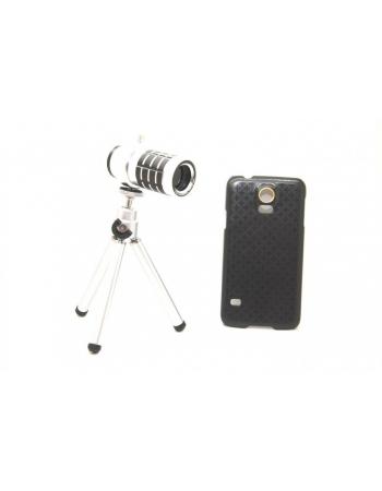 Комплект объектив 12x + штатив для Samsung Galaxy S5. Серебристый цвет