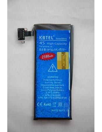 Усиленный аккумулятор Iphone 4s. Емкость 2180 Mah. KBTEL