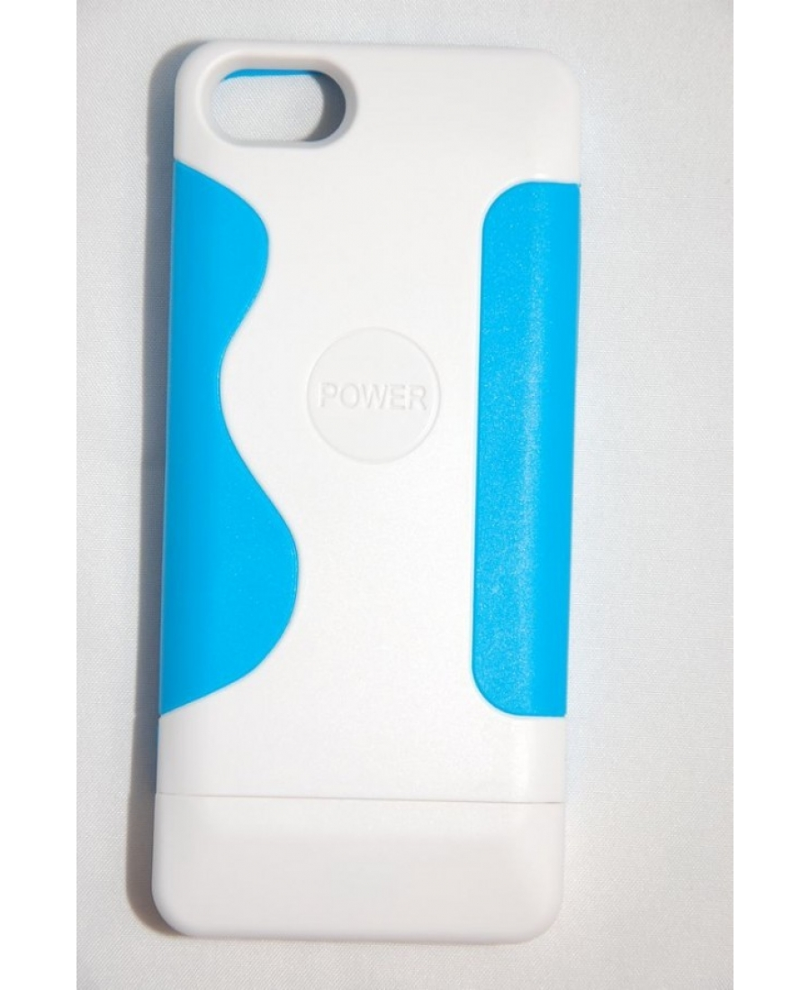 Чехол-аккумулятор Iphone 5 Communitech, 2200 Mah. Голубой цвет
