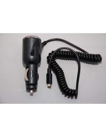 Автомобильная зарядка lightning Iphone 5. Черный цвет