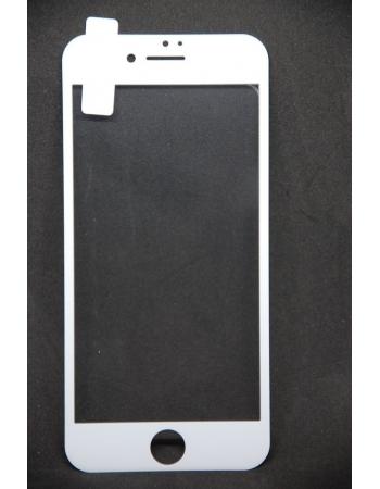 Защитное 3d стекло для Iphone 8. Белый цвет