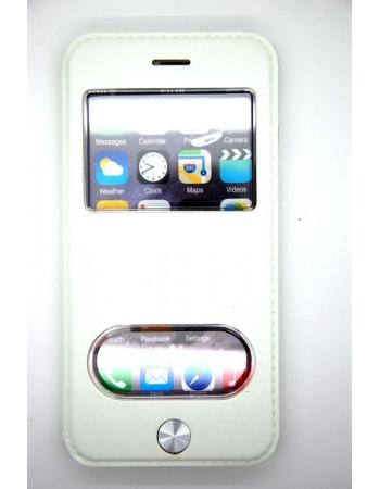 Кожаный чехол Iphone 6 (4.7) flip kalaixing. Белый цвет