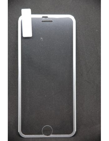 Защитное 3d стекло для iphone 6. Серебристый цвет