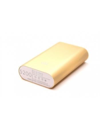 Мобильный аккумулятор Xiaomi Power Bank 5200 mAh. Бронзовый цвет