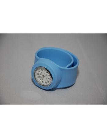 Часы силиконовые slap on watch. Голубой цвет